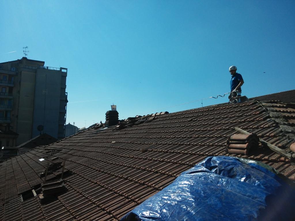Linee vita tetti legno
